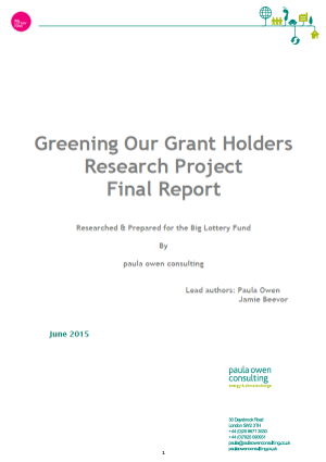 Big Lottery Fund - Greening Our Grantholders